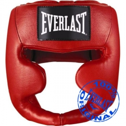 Шлем Everlast MMA Leather full красный