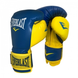 Перчатки тренировочные Everlast Powerlock Training Gloves 10oz Blue/YellowVelcro PYBY10